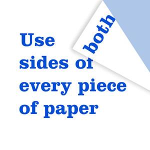 استخدم أي قطعة ورق من الجانبين