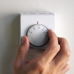 خفض جهاز تنظيم الحرارة الغرفة درجة مئوية واحدة